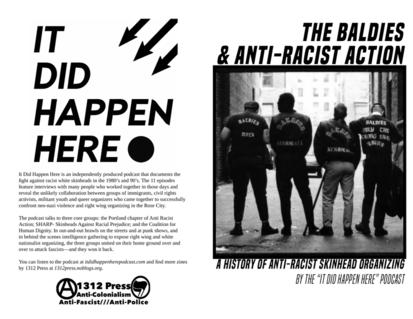The Baldies & Anti-Racist Action Zine Cover