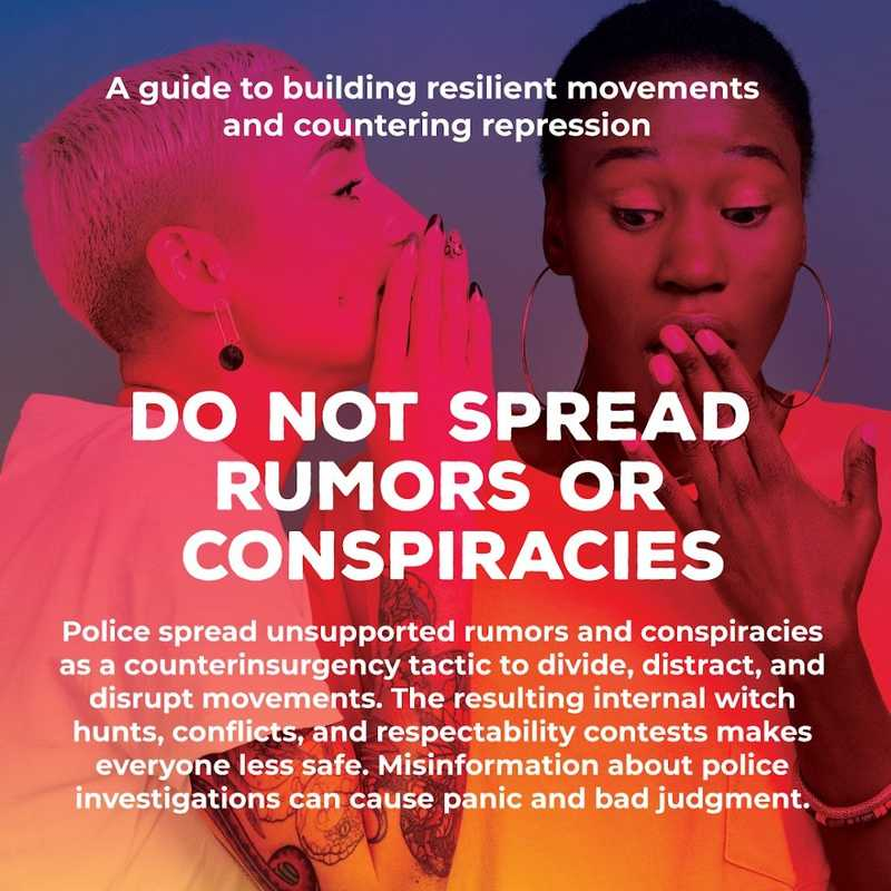 Movement Defense: Do Not Spread Rumors or Conspiracies
