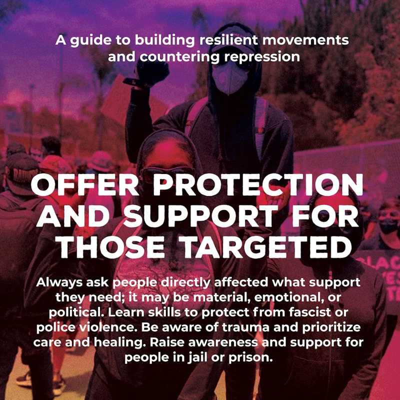 Movement Defense: Offer Protection and Support for those Targeted