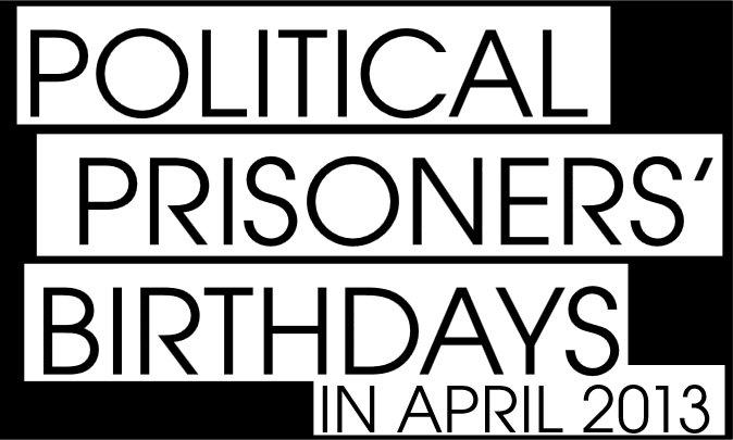 Political Prisoner Birthday Poster for April