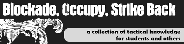 Featured Zine: Blockade, Occupy, Strike Back