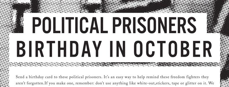 October Political Prisoner Birthdays