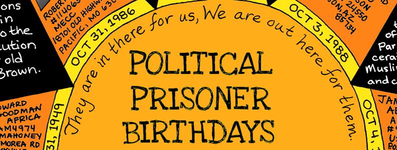 October Political Prisoner Birthdays Poster