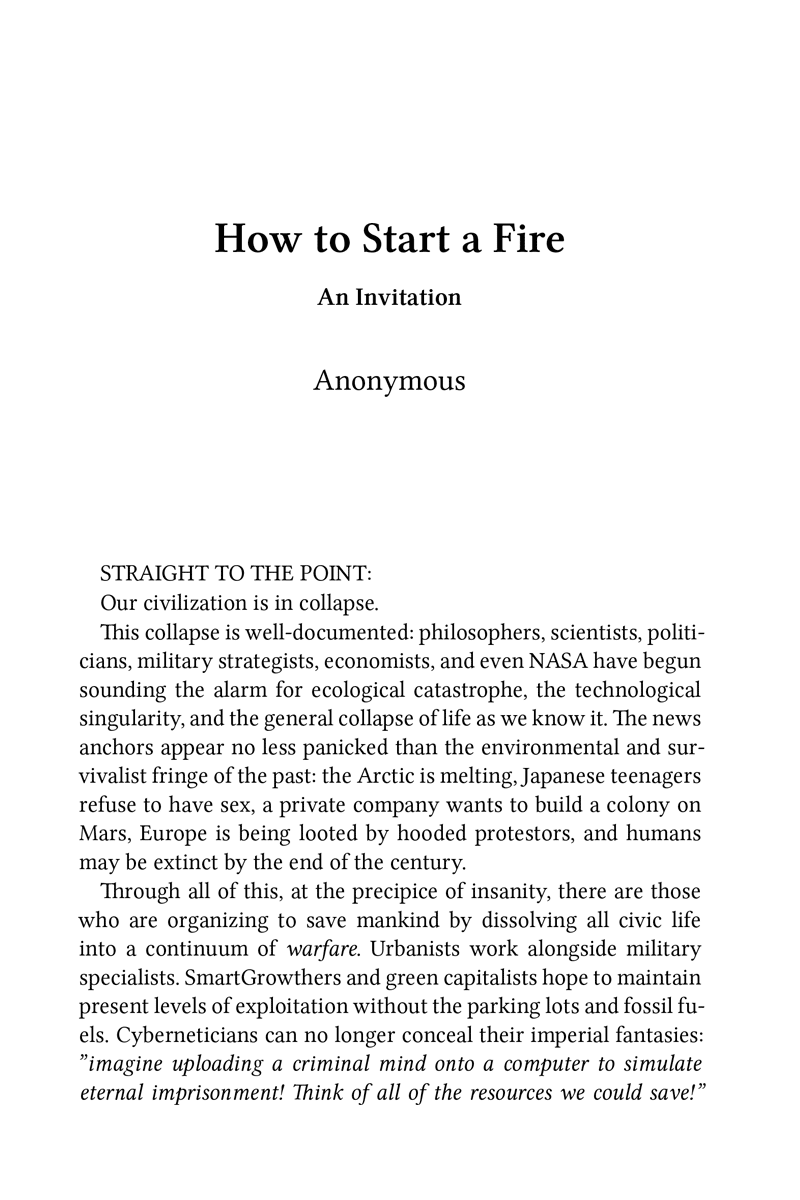 how to start a fire cover